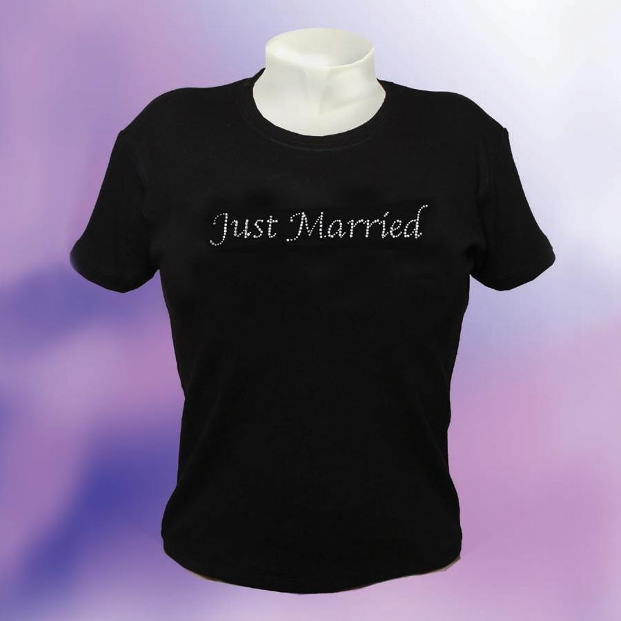 6d9b51587a Diamante bridal tshirts | Wedding t-shirts | Forever Memories