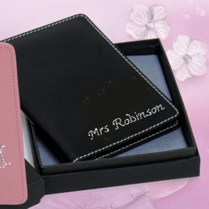 personalised diamante passport holder