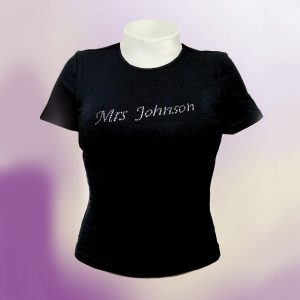 Personalised diamante tshirts