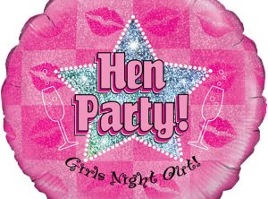 18 Hen Party Holographic Balloon