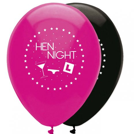 hen night latex balloons