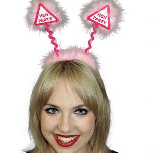 Pink Hen Party Warning Sign Head Bopper