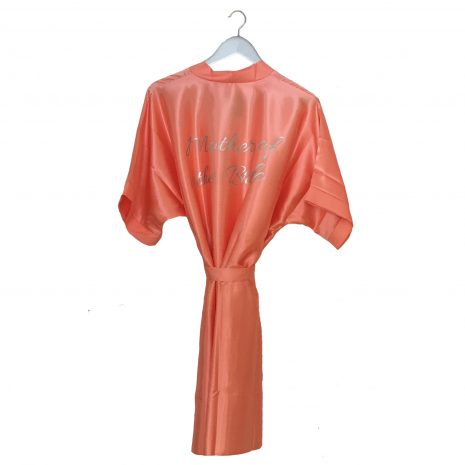 Satin Wedding Robe Coral