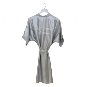 sain wedding robe silver