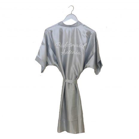 sain wedding robe silver