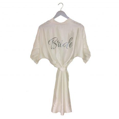 satin wedding robe ivory