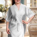 silver satin robe