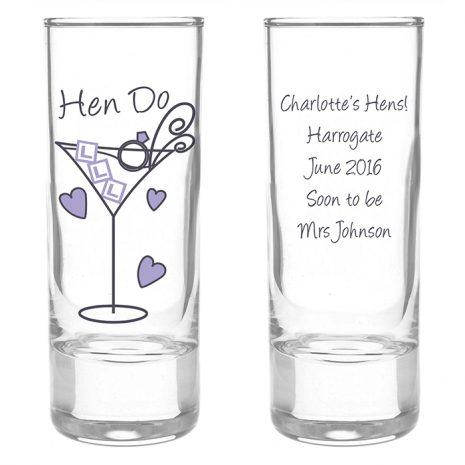 Personalised Hen Do Shot Glass