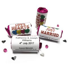 50 personalised love hearts
