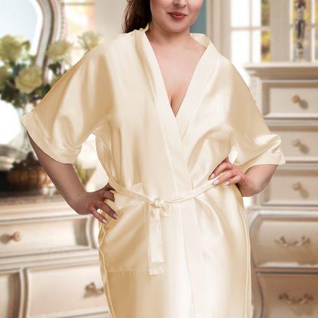 champagne satin robe