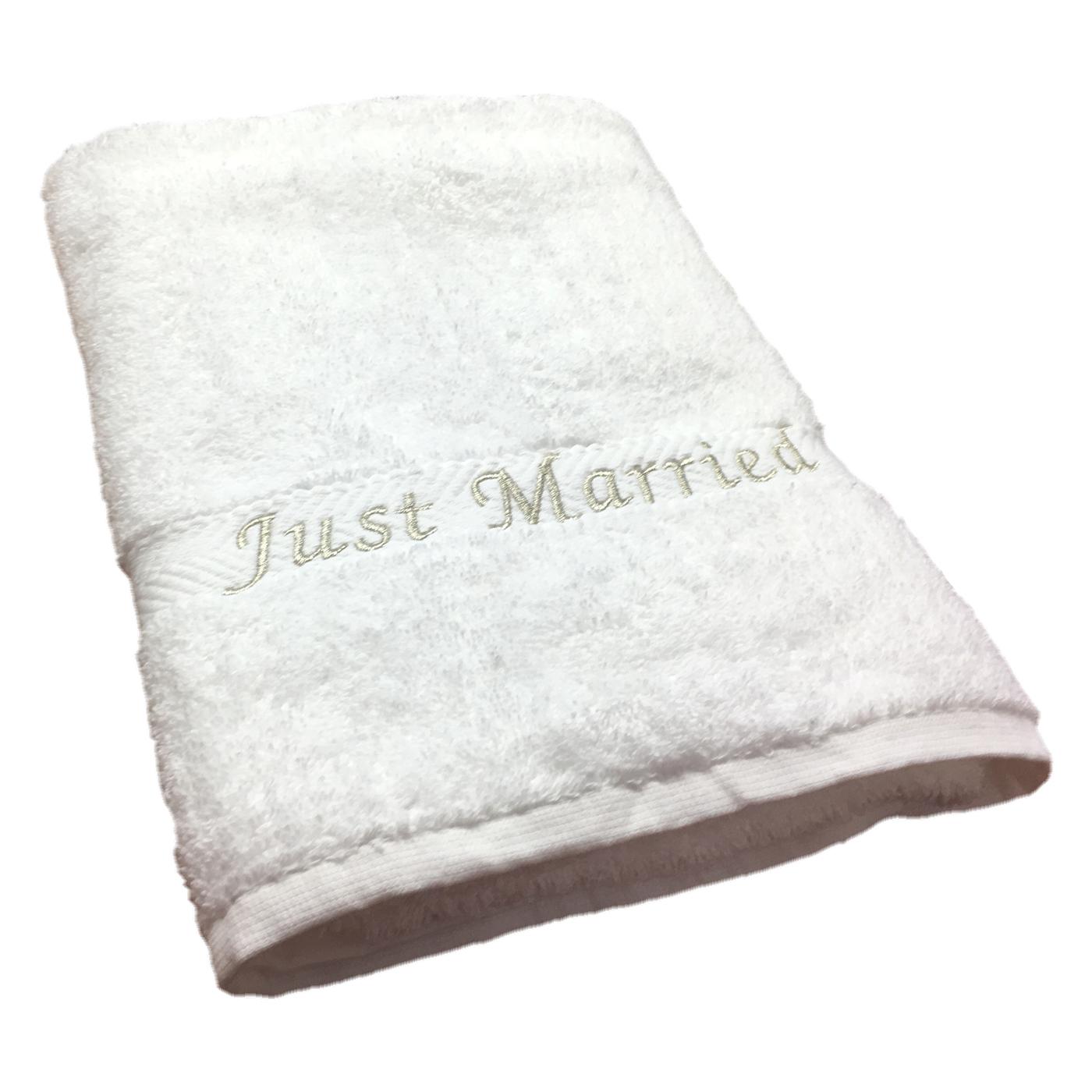Just Married Beach Towels Uk
