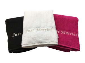 Just Married Towels