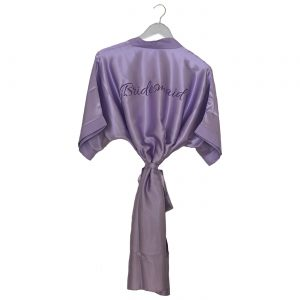 Satin Wedding Robe Lilac