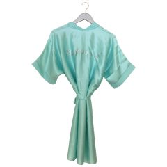Satin Wedding Robe mint green