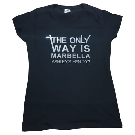 the only way is t-shirt
