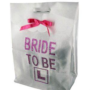 White Diamante Bride Gift Bag