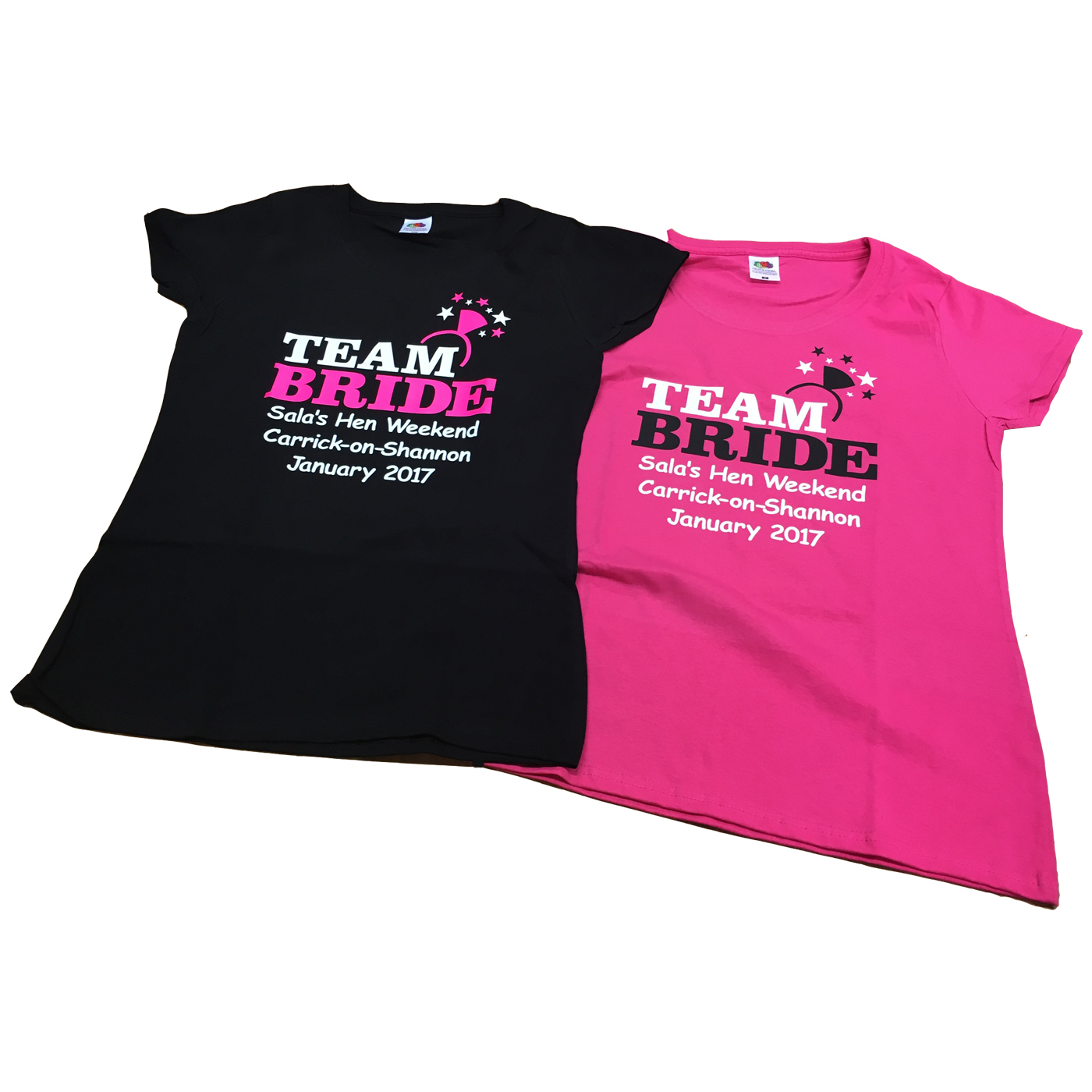Team bride ring t shirt hen party t shirts forever for Hen party t shirts