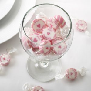 Just Married Rock Sweets Pink