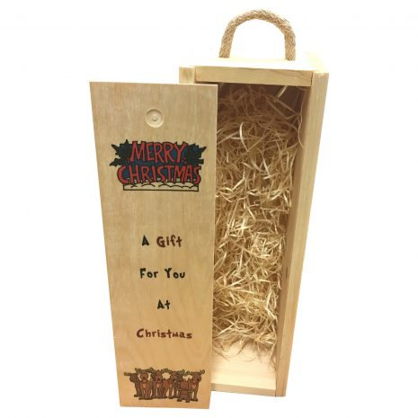 A gift for you at Christmas wine box