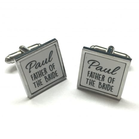 personalised father of the bride cufflinks