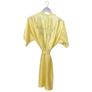 Satin Wedding Robe Yellow