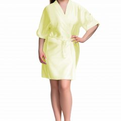 yellow satin robe