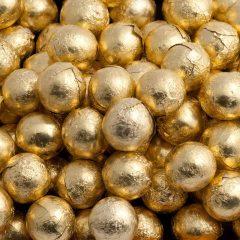 gold foiled balls
