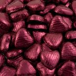 foiled wrapped chocolate hearts burgundy