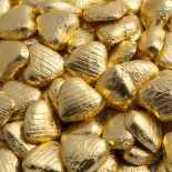 foiled wrapped chocolate hearts gold