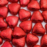 foiled wrapped chocolate hearts red