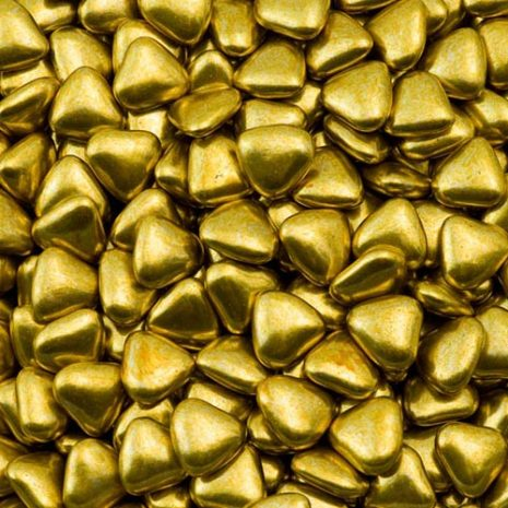 gold mini heart dragees