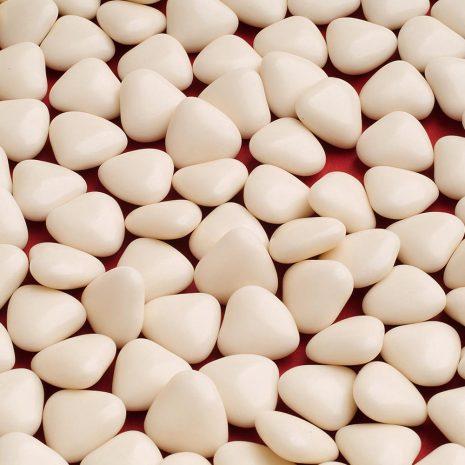 Ivory mini heart dragees