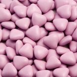 lilac mini heart dragees