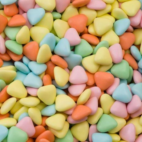 multi mini heart dragees