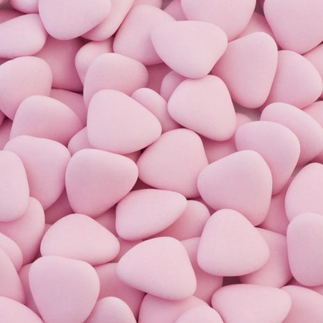 pink heart dragees