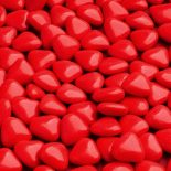 red mini heart dragees