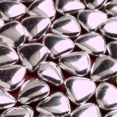 silver heart dragees