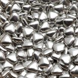 silver mini heart dragees