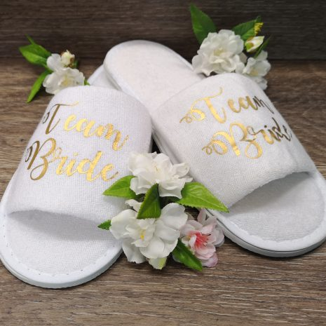 team bride slippers