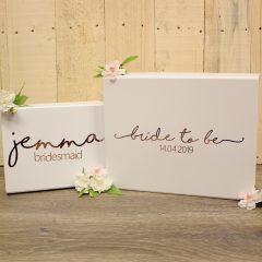bride box and bridesmaid box