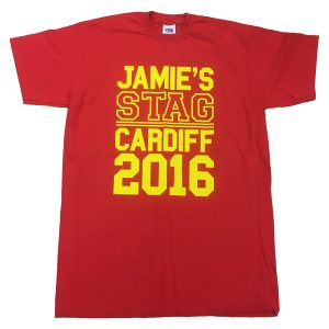 College font stag t-shirt