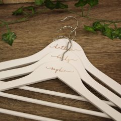 Personalised White Wedding Hangers