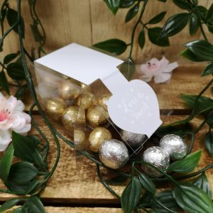 valentine cube chocolate foil balls