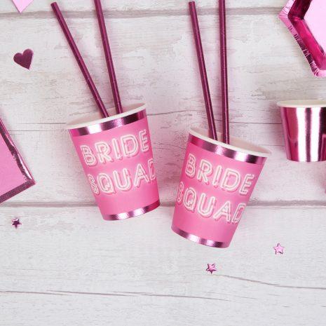 Bride squad paper cups