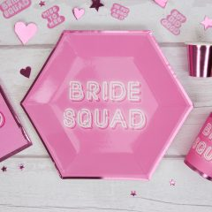 bride sqaud paper plates