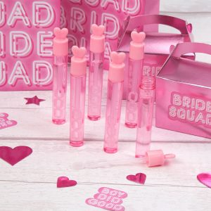 Pink Heart Tube Bubbles