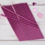 Pink Foil Paper Straws