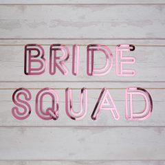 bride squad paper bunting