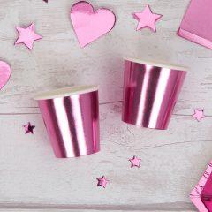 Pink Foil Mini Cup Shot Glass
