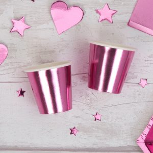 Pink Foil Mini Cup Shot Glass